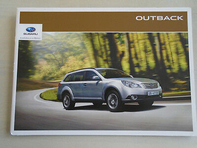Subaru Outback brochure 2012 Irish market