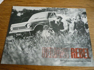Reliant Rebel Sales Brochure 1966