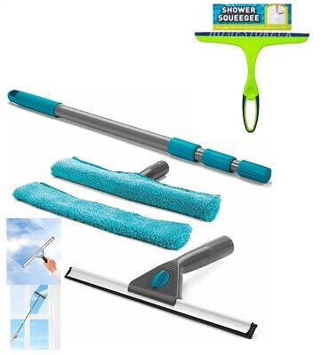 Harris Squeegee /  Double Sided Window Wiper / Cleaning Kit With Extendable Pole