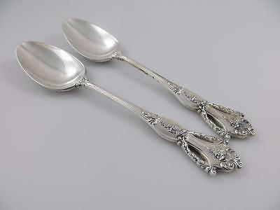 2 Oval Soup Dessert Spoons BEAUVOIR Tuttle Sterling Silver Flatware