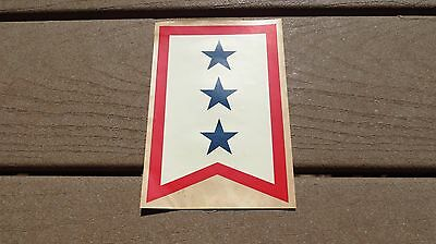 WW2 US Army MILITARY SON IN THE SERVICE FLAG WINDOW DECAL 3 STAR
