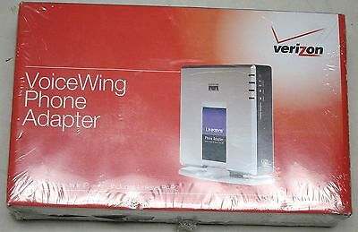 LINKSYS VERIZON MODELPAP2-VN VOIp PHONE ADAPTOR WITH ROUTER W/ POWER NEW