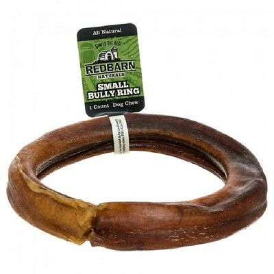 3 RedBarn BULLY RINGS Dog Chews Treats Sticks Grass Fed Cattle NATURAL