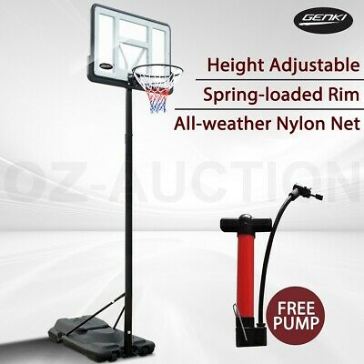 Spring Loaded Basketball Hoop Ring System Height Adjustable Slam Dunk Stand