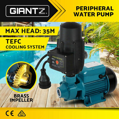 Auto Electric Peripheral Pump Clean Water Garden Farm Rain Tank Irrigation QB60