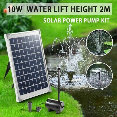 10w Solar Power Outdoor Fountain Garden Pond Pool Submersible Water Pump Kit