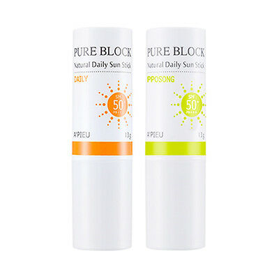 [A'PIEU] Pure Block Natural Daily Sun Stick - 13g (SPF50+ PA+++)