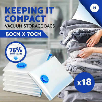 NEW 18 X Vacuum Storage Bags Saver Seal Compressing Space Saving Experts Medium