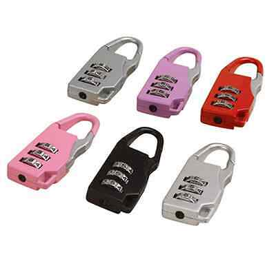 Dial Digit Number Code Password Combination Padlock Security Travel Safe Lock CA