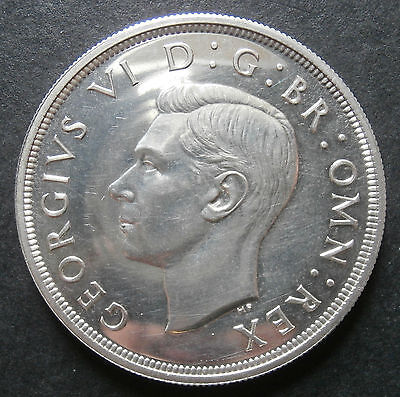 Crown 1937 proof - small marks on lip and above 9 of date - aFDC