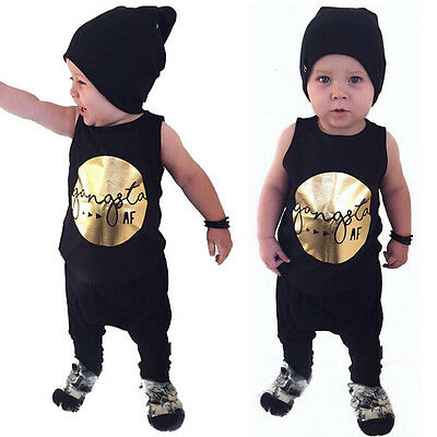 0-4Y Toddler Infant Baby Boy Outfit T shirt Tops+ Pants Trousers 2pcs Casual Set