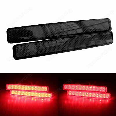VW T5 Transporter LED Rear Bumper Reflector Tail Stop Brake Fog Light Black Lens