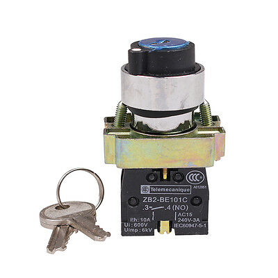 XB2BG61 2Position Key Operated Selector Pushbutton Switch N/O Push Button Switch
