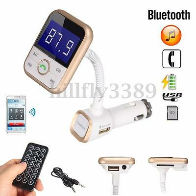 Wireless Bluetooth Handsfree Car Kit FM Transmitter MP3 Player SD USB + Remote