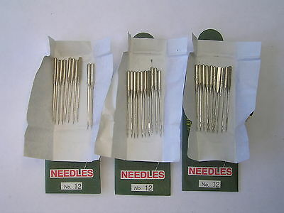 30 Sewing Machine Needles 80/12 Fits Toyota Brother Janome Singer Pfaff Silver +