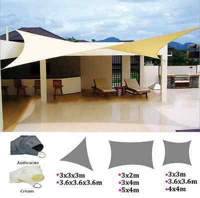 Sun Shade Sail Garden Patio Sunscreen Awning Canopy Screen 98% UV Block