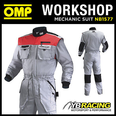 Sale! Nb/1577 Omp 'workshop Suit' Mechanic Pit Crew Overalls Professional