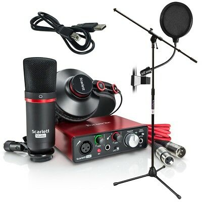 Focusrite Scarlett Solo Studio (2nd Gen) Recording Package BONUS PAK
