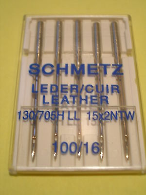 Schmetz Leather Sewing Machine Needles 100/16 Fits Brother/janome/singer/toyota