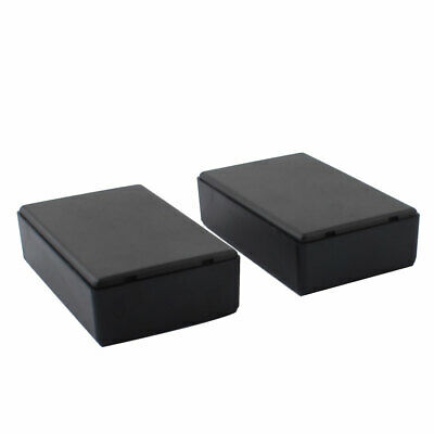 Waterproof Sealed Project Electrical Junction Box Case Black 97 x 59 x 28mm 2pcs