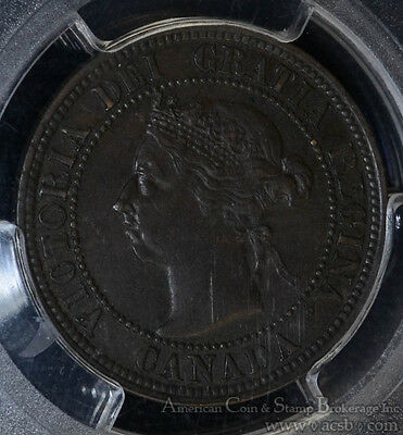 Canada 1c One Cent 1891 EF45 PCGS KM#7 C3 SL SD Small Leaves & Date Obverse 3