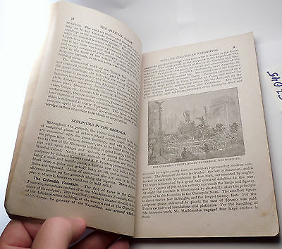 1893 WORLD's FAIR Official Guide Book Chicago Columbian Exposition EXCELL i57045