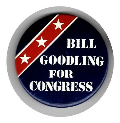 Bill Goodling For Congress Pin (R-PA)