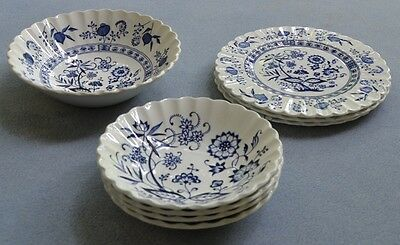 8 Pieces Meakin Blue Nordic Plates and Bowls