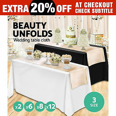 Tablecloths Wedding Rectangle Event Party Table Cloth Trestle Black White