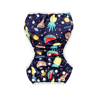 AlvaBaby Boy Swimming Pool Pant  Diaper waterproof&breathable printed with Snaps