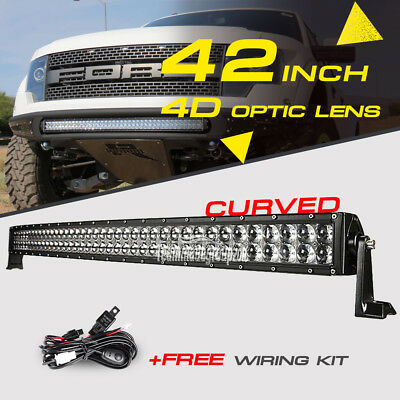 4D 42inch 560W OSRAM Curved LED Light Bar Flood Spot Combo Offroad Truck 4WD 50""