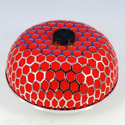 """76mm 3"""" Inch Performance Air Filter Universal Dome Mushroom Induction Red"""