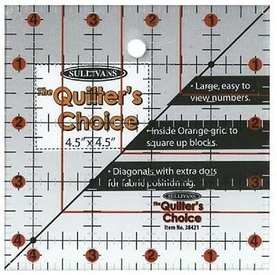 """Quilting Ruler 4.5"""" x 4.5"""""""
