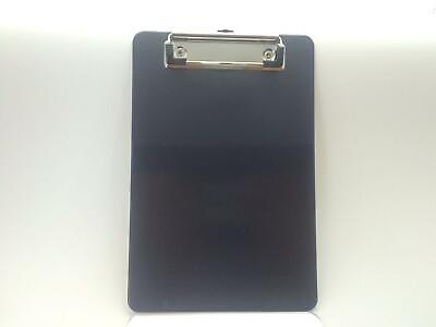 A5 Black Solid Plastic Clipboard - with Ruled Side