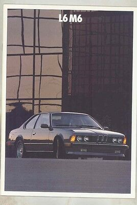 1987 BMW L6 M6 US Prestige Brochure ww1013