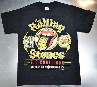 2015 Rolling Stones Concert Small SM Shirt Zip Code Tour Pittsburgh PA Steelers