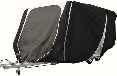 Leisurewize Caravan Cover 14 to 17ft Heavy Duty Breathable Charcoal Grey 3 ply