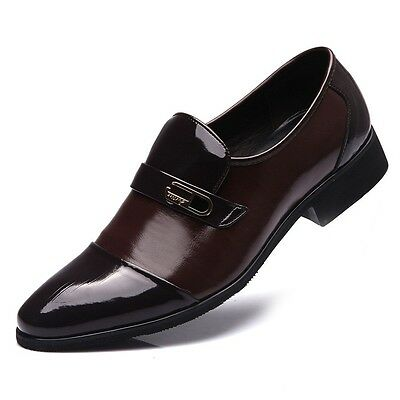 New England Men's Business Leather Shoes Formal Dress Wedding Point Toe Oxfords