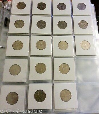 ( 20 ) 20-Pockets 2x2 Coins Currency Holders Inserts  Sleeves Collector Pages