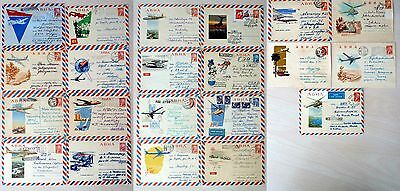 Russia 1961-1965  Aviation  Air Mail  20 Stationery  Covers