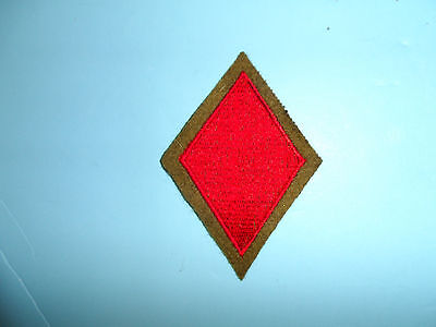 b8819 US Army 1930's 5th Infantry Division patch OD wool mchn emb variation