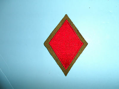 b8819 US Army 1930's-WW2 5th Infantry Division patch OD wool Red Devils PA14