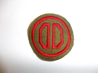 b8822 US Army 1930's-WW2 31st Infantry Division patch OD wool Dixie PA14