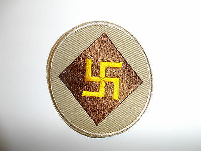 b8828 US Army 1930's 45th Infantry Division patch Khaki mchn emb variation