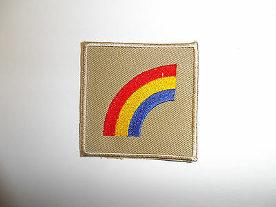 b8831 US Army 1930's 42nd Infantry Division patch Khaki mchn emb variation