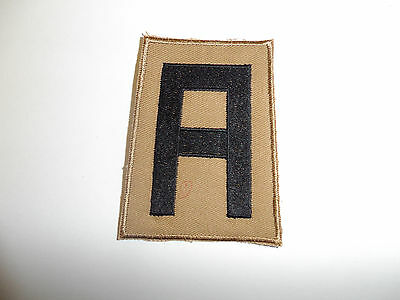 b8839 US Army 1930's 1st Army patch Khaki mchn emb variation
