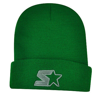 5657d4c1ef333 Starter Blank Green Knit Beanie Cuffed Toque Winter Hat Skully Plain Solid  Thick