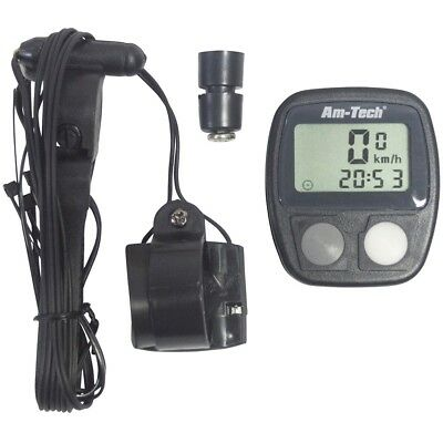 LCD 14 Function Bicycle Computer Speedometer Odometer Clock Bike Cycle Cyclist