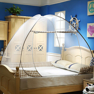 New Mosquito Net Portable Folding Tent Dome Netting Bedding Canopy Single Door