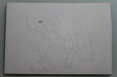 Genesis Hand Signed Autographed Drawn Phil Collins Self Portrait Framing Board